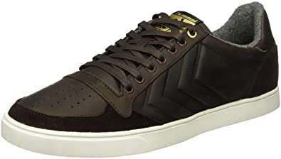 Unisex Adults Slimmer Stadil Mono Oiled Low-Top Sneakers, Multicoloured Hummel