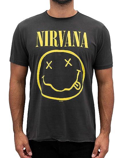 027d26af Amplified Men's Nirvana-Smiley T-Shirt: Amazon.co.uk: Clothing