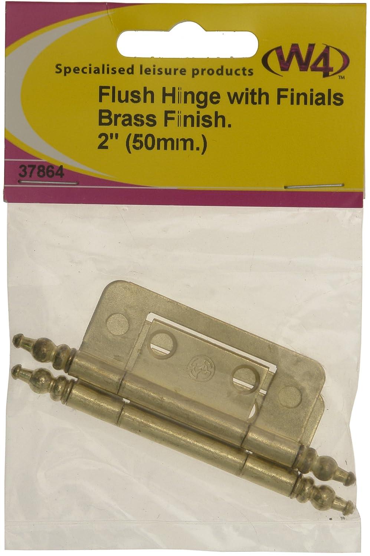 "W4 Flush Hinge Brass Finish 2/"" Door Hinge 50mm."