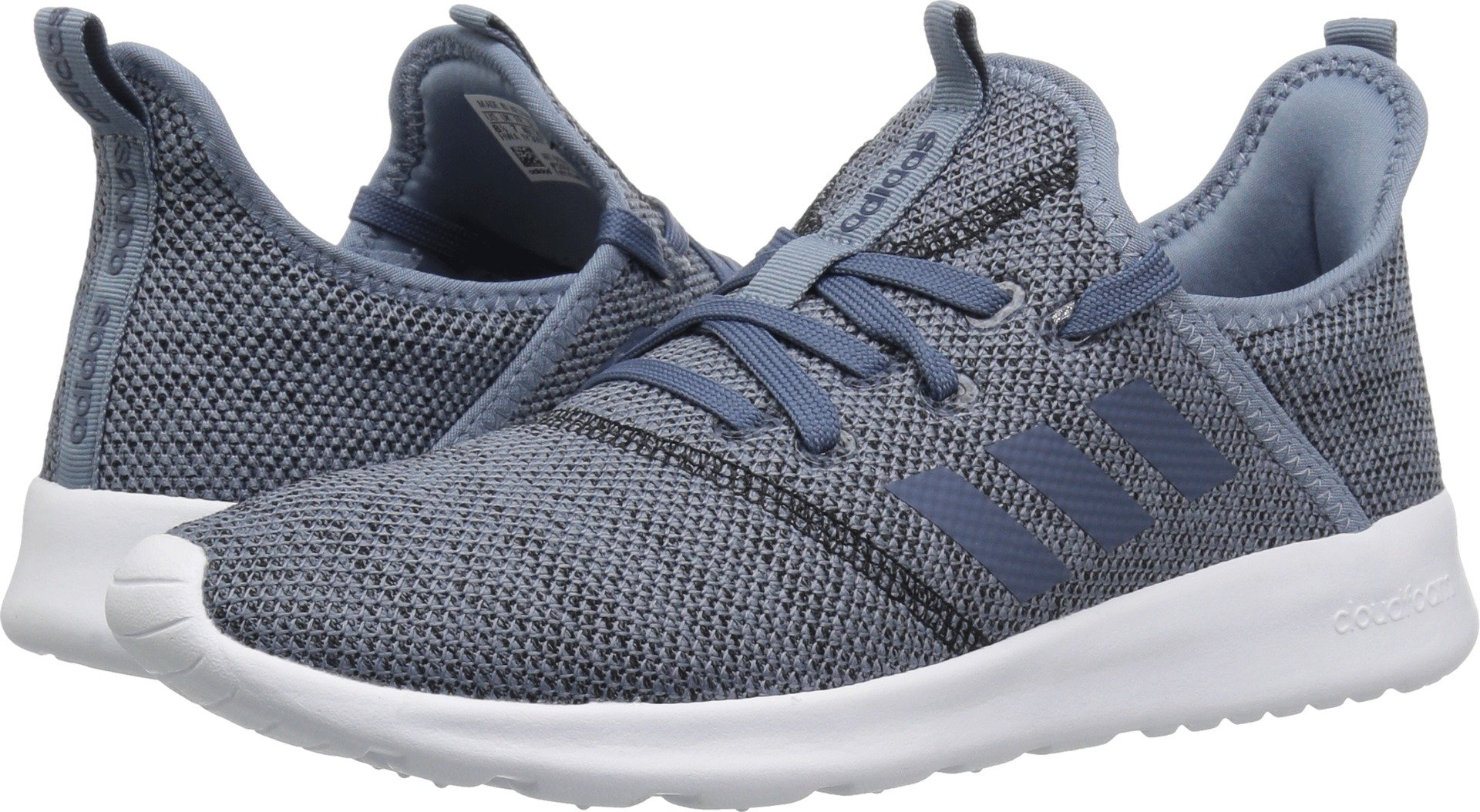 adidas Performance Women's Cloudfoam Pure Running Shoe, Raw Grey/Tech Ink/Black, 8.5 M US
