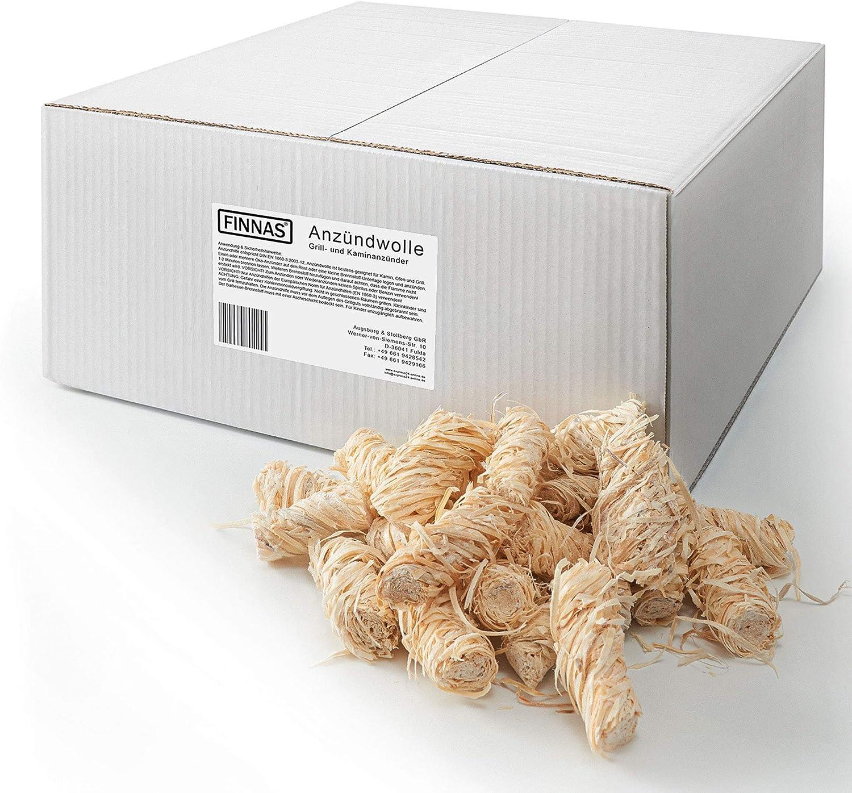 Lana ecológica de primera calidad de encendido para chimenea, encendedor de leña, barbacoa, horno, hoguera, 10 kg