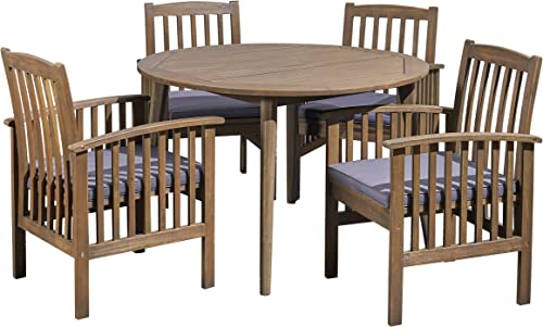 Great Deal Furniture Alma Acacia Patio Dining Set