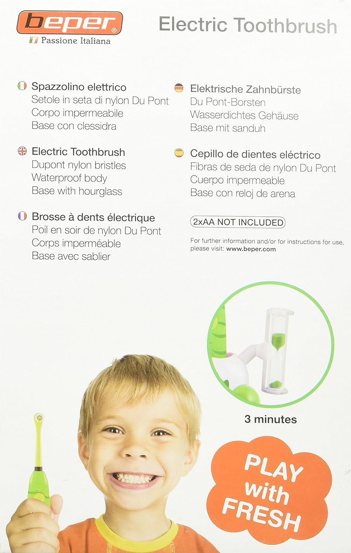 Beper 40.911/SH - Cepillo de dientes eléctrico para niños surtido: colores aleatorios, 1 unidad: Amazon.es: Salud y cuidado personal