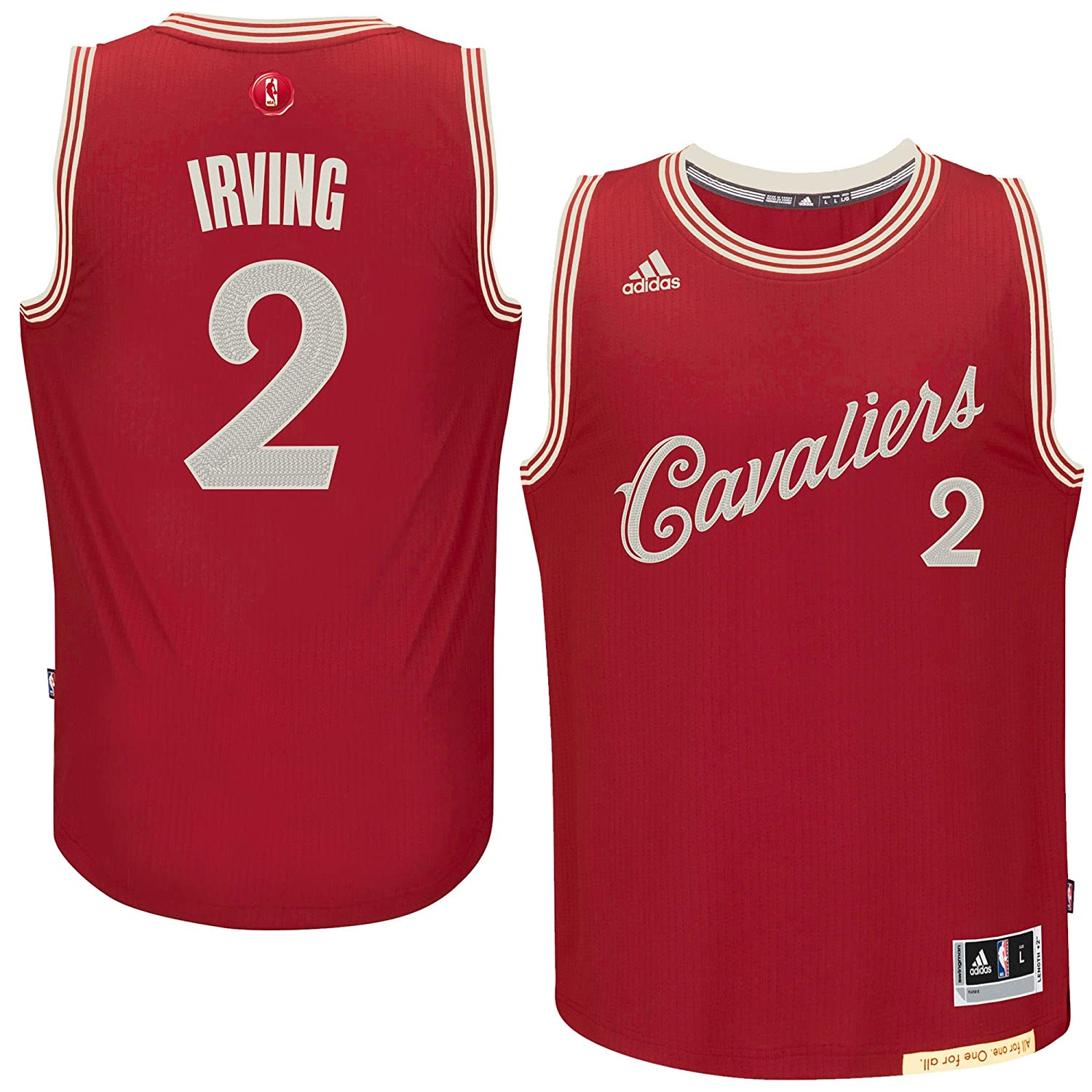 new product 69c7d 0dfc8 Kyrie Irving Cleveland Cavaliers #2 Red Youth X-Mas Replica Jersey