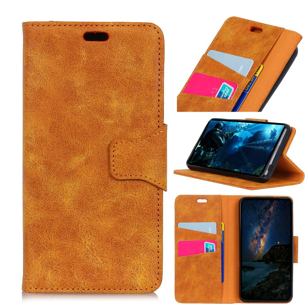 Samsung Galaxy Note 9 Case,[ Shock Absorbent ] Shell PU Leather Kickstand Wallet Cover Durable Flip Case Compatible with Samsung Galaxy Note 9 Yellow