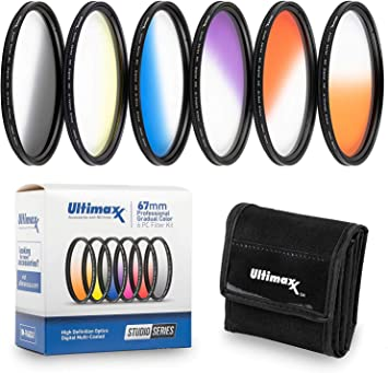 D3500 D5600 w//AF-P DX NIKKOR 18-55mm f//3.5-5.6G VR D500 D3400 D5300 D5500 55MM Ultimaxx Six Piece Gradual Color Filter Kit D5200 Orange, Yellow, Blue, Purple, Red, Grey for Nikon D3300