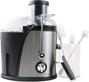 XUALUAN Masticating Juicer Machines and 3 pcs Cleaning Brush - 3 Speed Extractor for High Juice Yield - 400W Energy Saving Juicer and Easy to Clean - Suitable for Fruits and Vegetables