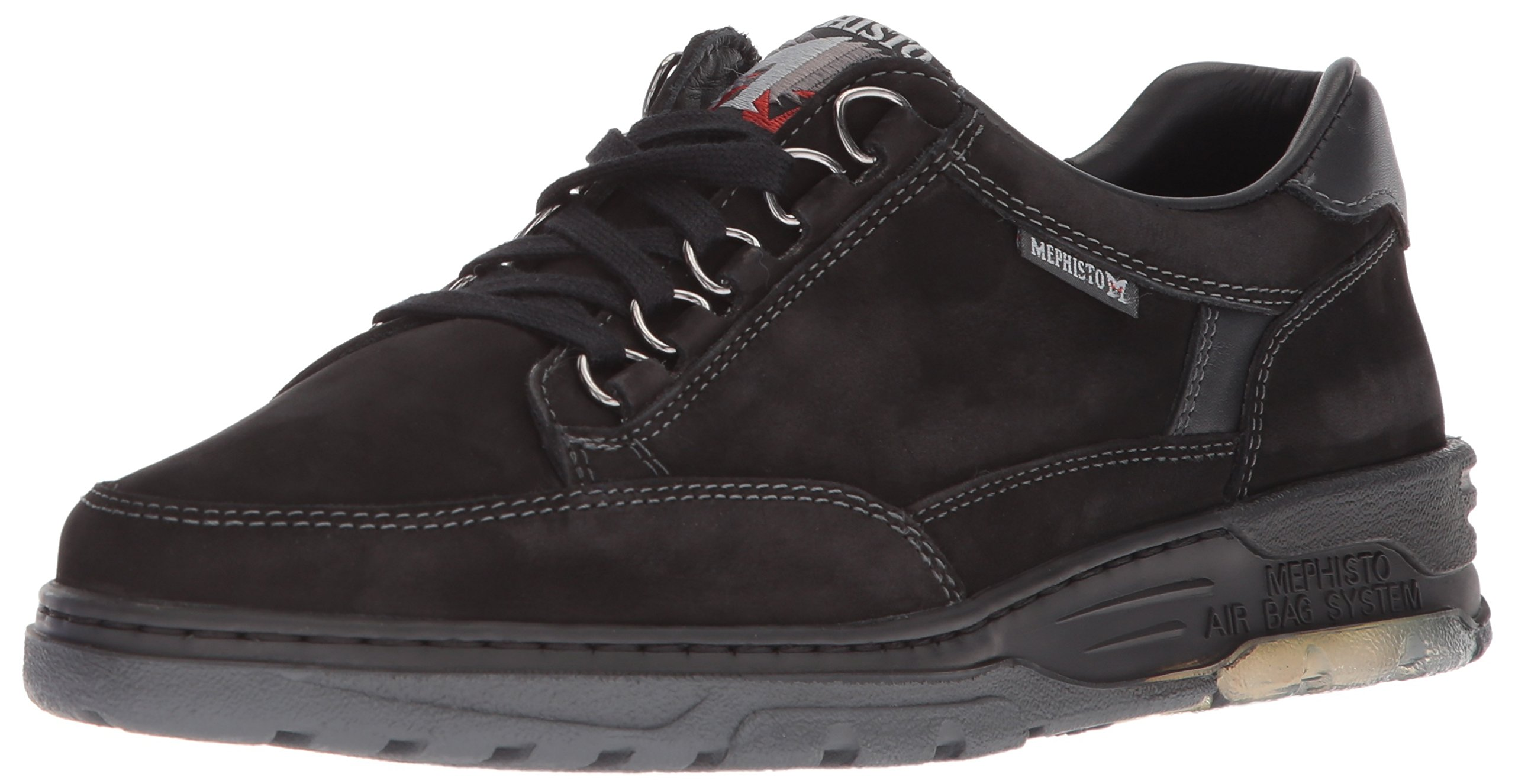 Mephisto Women's Natasha Oxford, Black Nubuck/Smooth, 9.5 M US