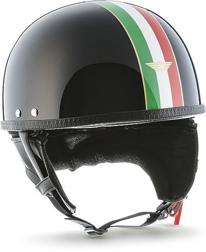 MOTO HELMETS D22 Italy - Casco abierto para motocicleta (incluye bolsa de transporte de plástico), diseño retro