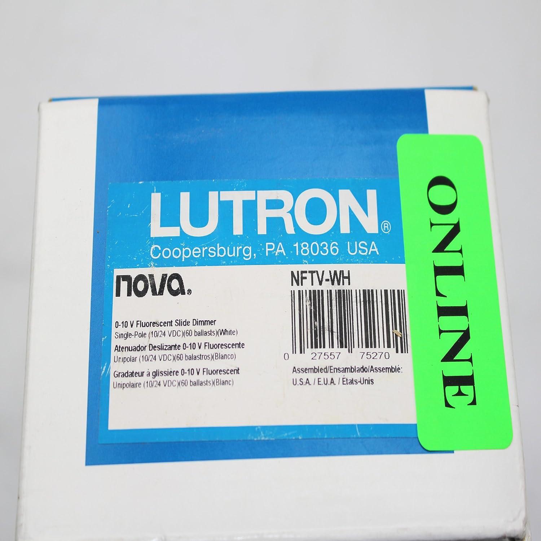 Amazon.com: Lutron NFTV-WH Standard Switches White: Electronics