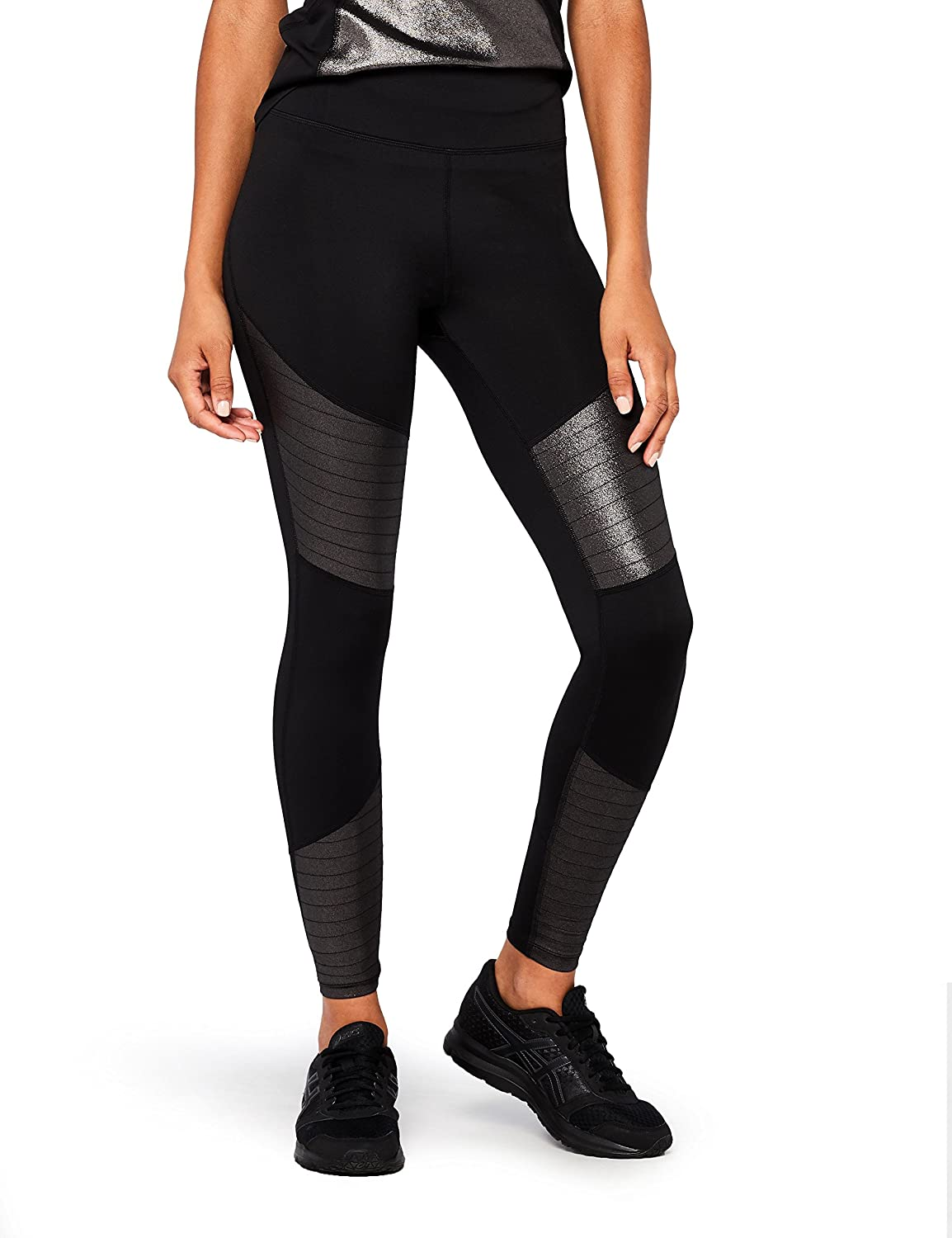 AURIQUE Women's High Waisted High Shine Sports Leggings AMA18Q2_14