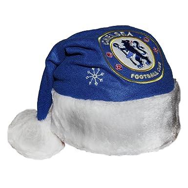 78ea209399368 Chelsea FC Novelty Christmas Santa Hat (One Size) (Blue)  Amazon.co ...