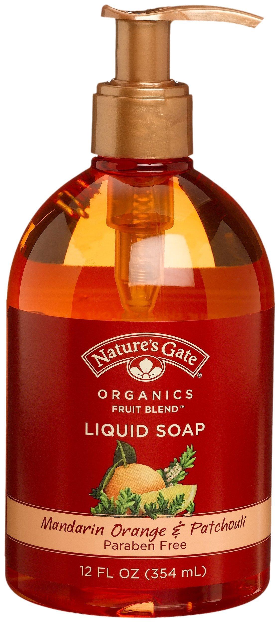 Nature's Gate Organics Fruit Blend Liquid Hand Soap, Mandarin Orange & Patchouli, 12 Ounce (Pack of 3)
