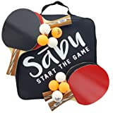 Ping Pong Paddle Set - 6 Star Performance Series - Table Tennis Racket Kit with Durable Rubber - Four Blades with Eight Ping Pong Balls
