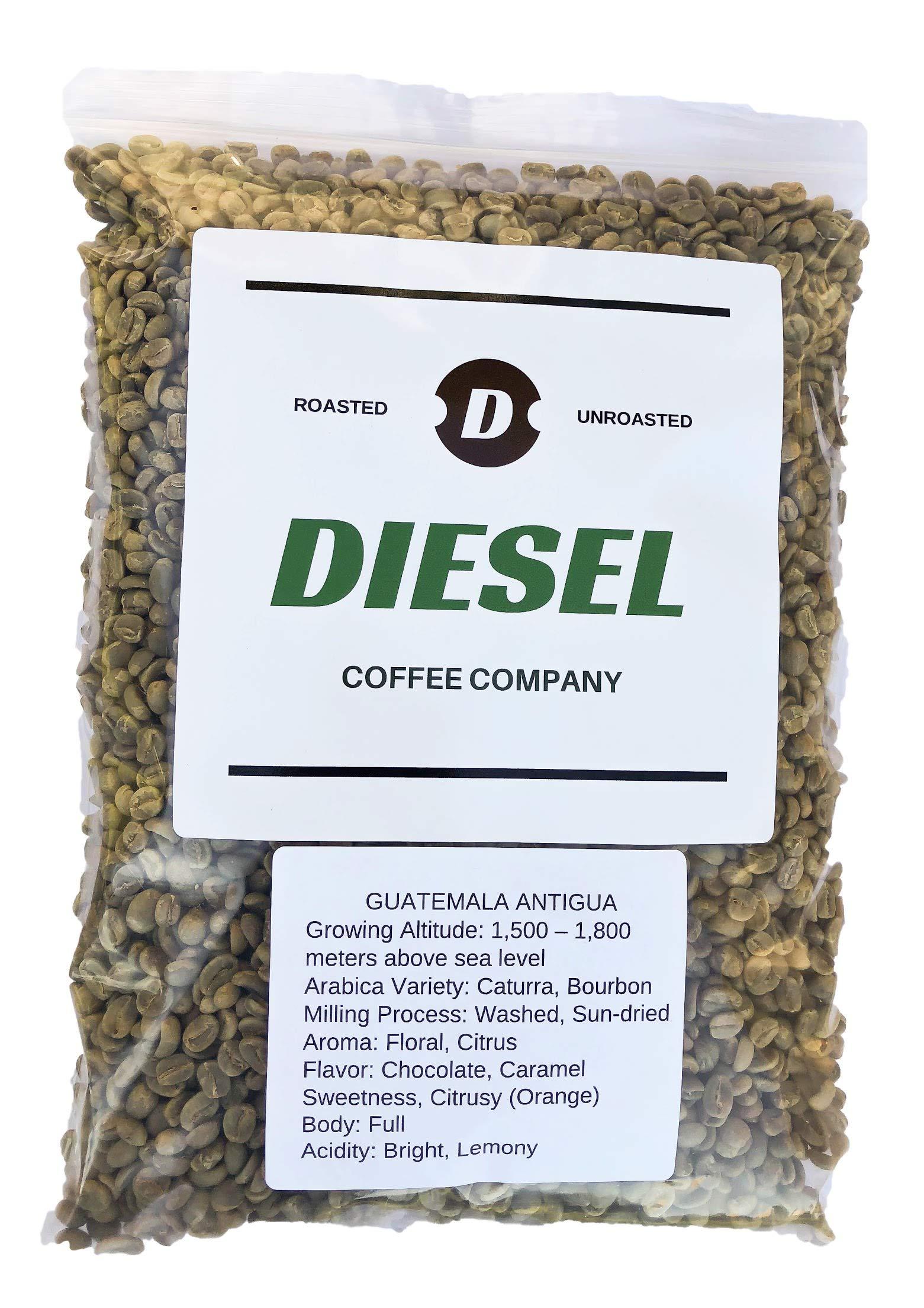 Diesel Coffee Company''Guatemala Antigua'' Unroasted Green Raw Coffee Bean 3Lb by Diesel Coffee Company