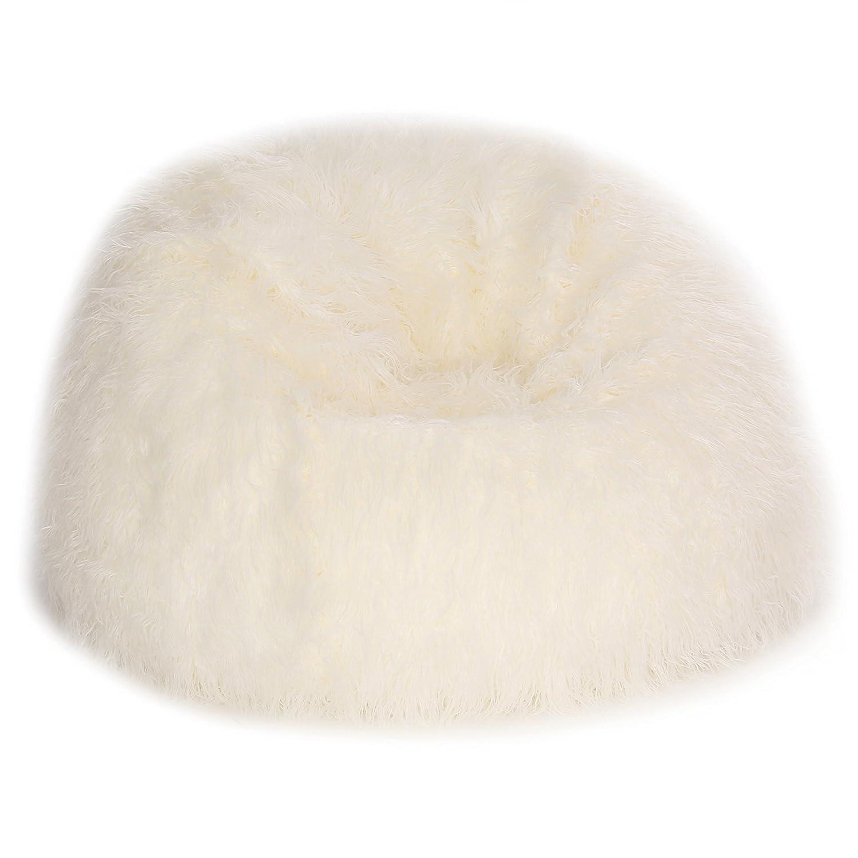Amazon Acanva Plush Faux Fur Teardrop Slacker Bean Bag