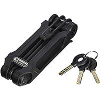 qobobo® Candado plegable con 3 llaves de bloqueo soporte de la motocicleta cerradura para motor bicicleta