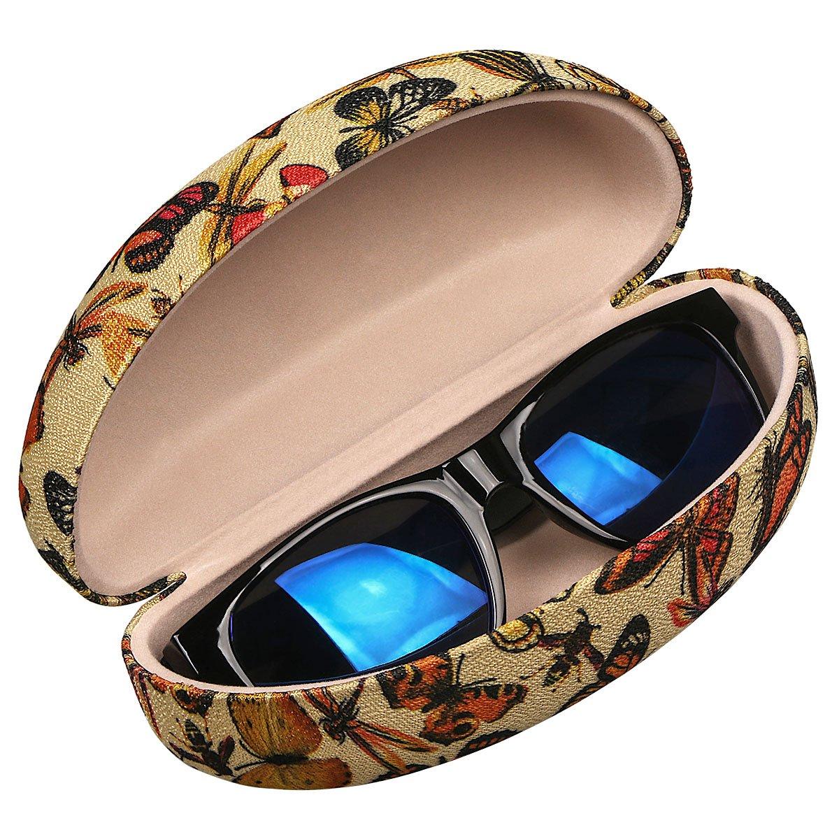 xhorizon FL1 Hard Shell Sunglasses Case,Classic Extra Large Case for Oversized Sunglasses and Eyeglasses