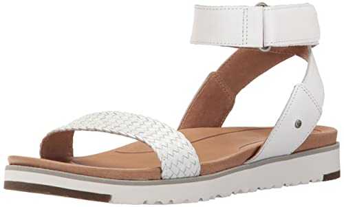 UGG Australia UGG1015817 - Scarpe con Cinturino Alla Caviglia Donna, Bianco  (Bianco),