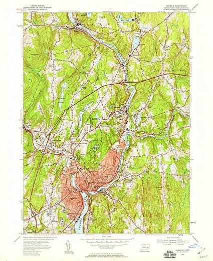 Amazon.com: 1954 Norwich, CT | USGS Historical Topographic Map |Fine ...
