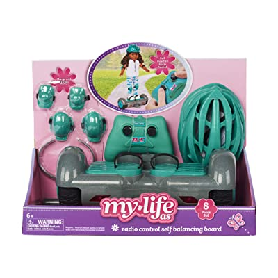 My Life As Doll Hoverboard for 18 Doll 8 pc Set Remote Controlled: Toys & Games