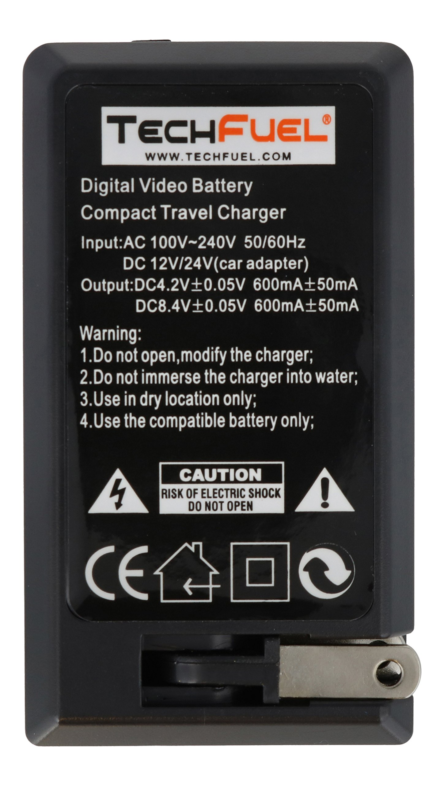 TechFuel Battery Charger Kit for Panasonic HDC-HS9 Camcorder - For Home, Car and Travel Use by TechFuel (Image #3)