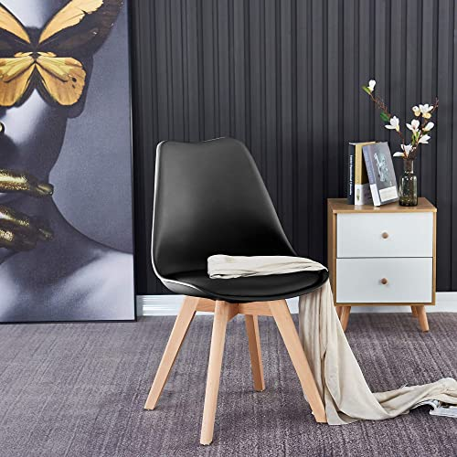 Meihua Kitchen Chair Modern Black Dining Room Chair Mid Century Modern Chair Black