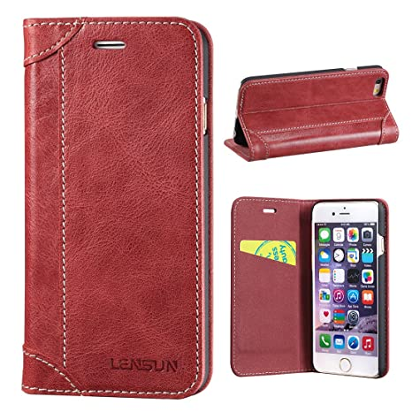Funda iPhone 6 / 6S, Lensun Funda de Piel para iPhone 6 / 6S 4.7""