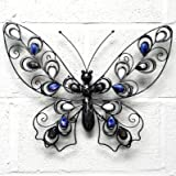 Butterfly Metal Wall Art Decoration 50cm x 42cm for garden or home
