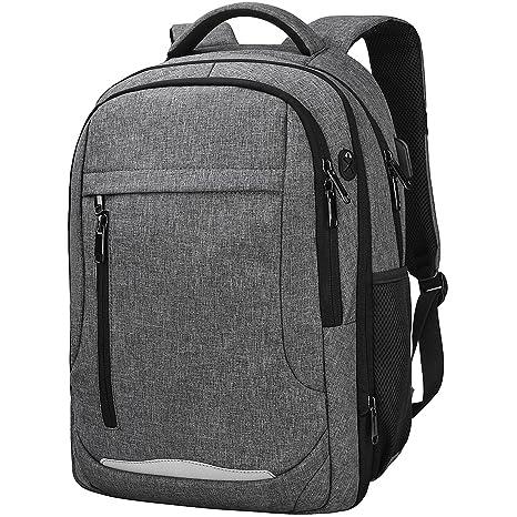 NEWHEY Mochila Portátil Hombre Impermeable Backpack para 15.6 Pulgadas Ordenador USB Puerto Casual Deporte Negocios Escolares