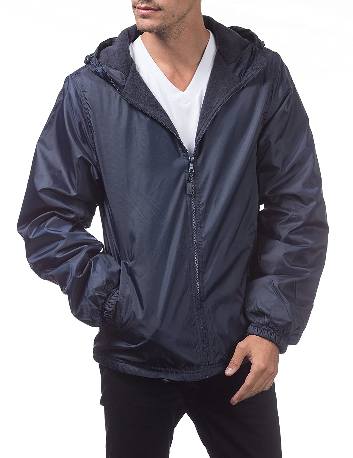 Amazon.com: Pro Club Fleece Lined Windbreaker Jacket: Clothing