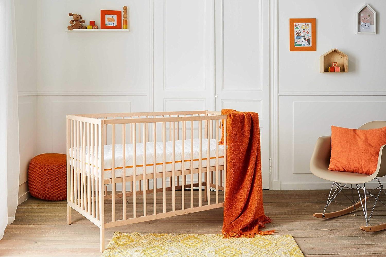 Matelas B/éb/é Essentiel Babysom 1 Prot/ège matelas Imperm/éable OFFERT- 60x120cm Epaisseur 12cm D/éhoussable