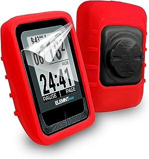 Tuff-luv Étui de protection en silicone et protecteur d'écran pour Wahoo Elemnt Mini GPS - Noir