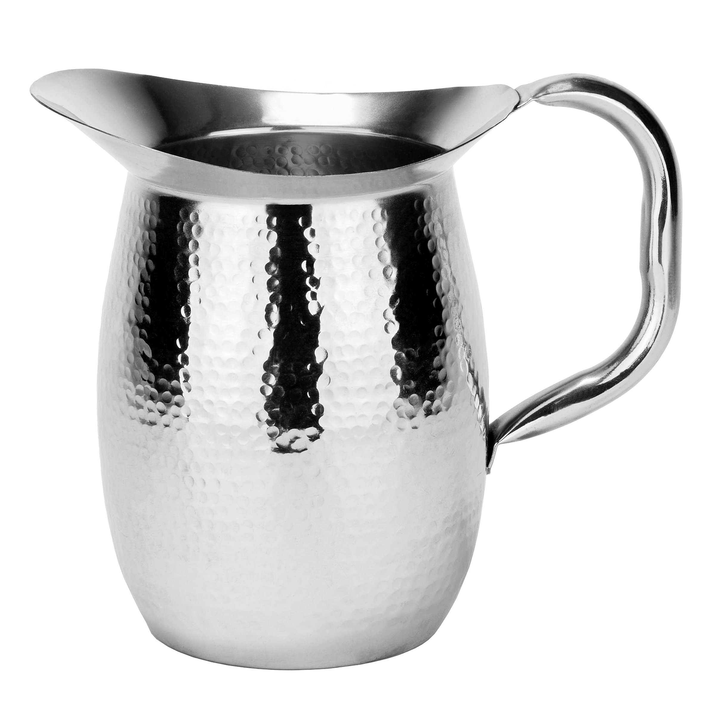 Double-Walled Hammered Stainless Steel Water Pitcher, 2 Qt by Old Dutch