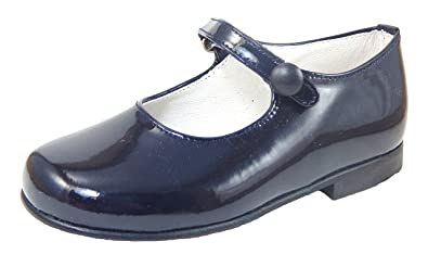 83e35f09987b7 Amazon.com | De Osu Girls' Navy Patent Leather Dress Shoes P-2550 ...