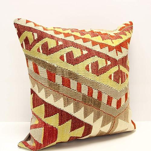 20x20 Vintage Handmade Turkish Kilim Pillow