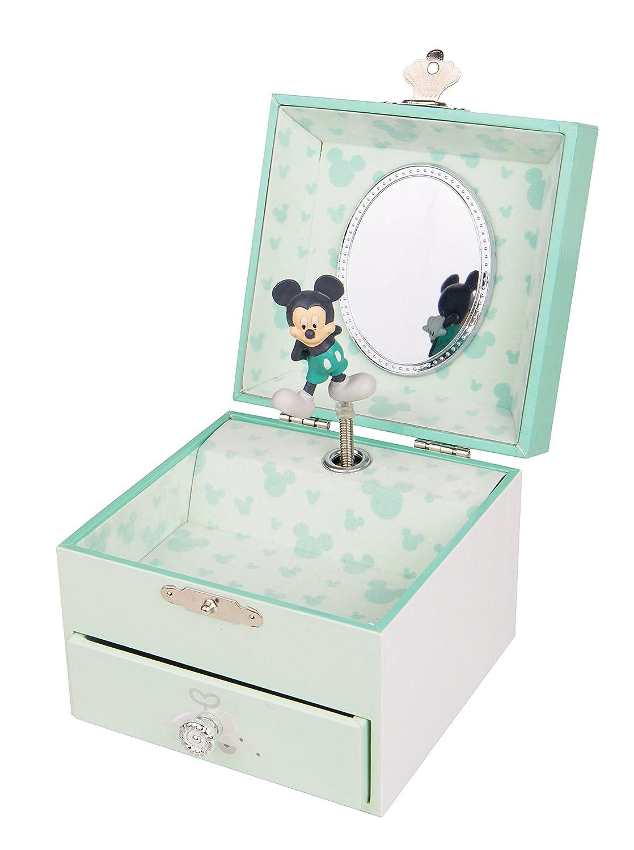 Trousselier Caja de m/úsica 20200 Disney Motivo de la Caja de m/úsica Mickey Serie de Cubos Cajas de m/úsica Caja de m/úsica