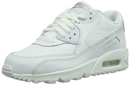 save off 6c5a5 1a4c8 Nike Air Max 90 (GS) Running Shoes, Children s White Size  6.5