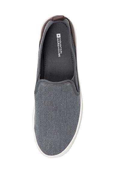 Mountain Warehouse Drift Canvas Mens Slip-On Shoes Azul Denim 45 sl1oinSy
