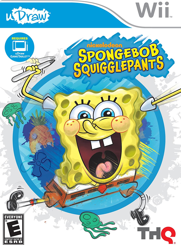 amazon com spongebob squigglepants udraw nintendo wii video