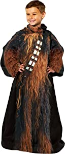 """Disney Star Wars, """"Being Chewbacca"""" Youth Fleece Soft Throw Blanket with Sleeves, 48"""" x 48"""", Multi Color"""