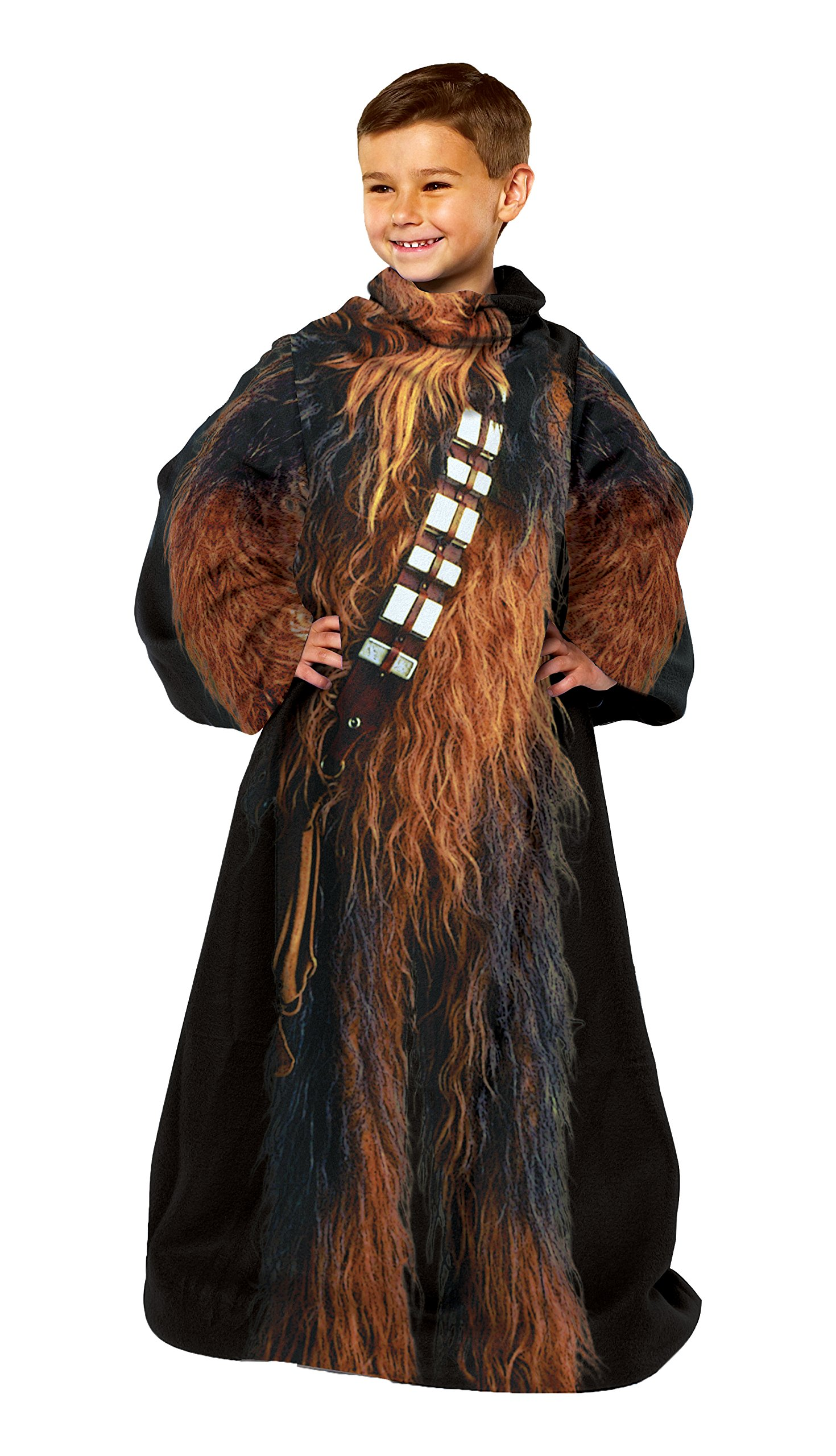 Disney's Star Wars, ''Being Chewbacca'' Youth Fleece Comfy Throw Blanket with Sleeves, 48'' x 48'', Multi Color