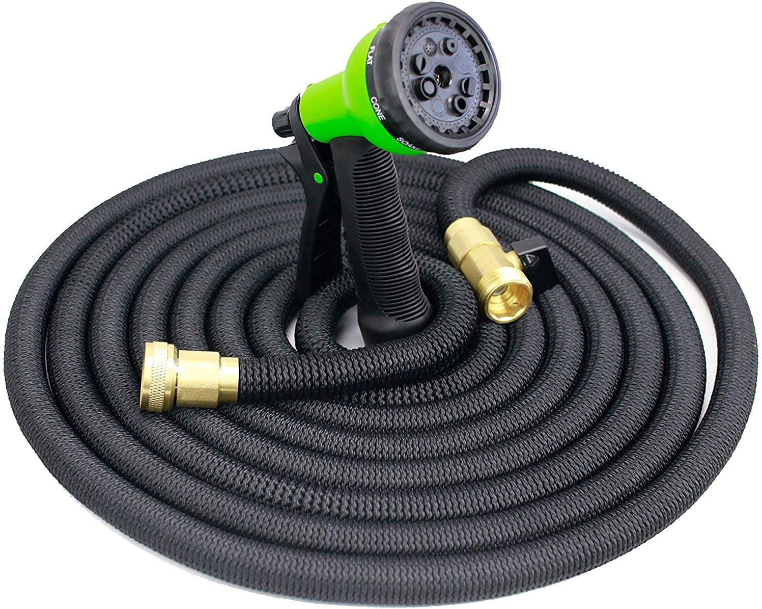 FUNTRESS Garden Hose 75 ft Collapsible Water Hose for Car Wash/Yard