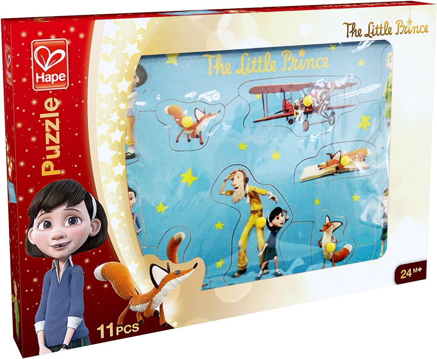 Amazon Com Hape The Little Prince Wood 10 Piece Puzzle Toys Games