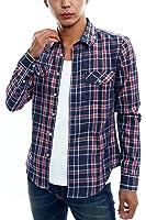 インプローブス imp 長袖 7分袖 七分袖 チェックシャツ チェック シャツ