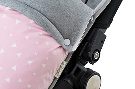 Amazon.com : Janabebé Universal Baby Footmuff Sack for Pushchairs (Bugaboo, Graco, Cybex and More) (Pink Sparkles, Cotton) : Baby