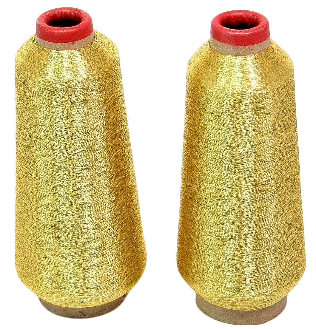 Threadnanny Gold Silver Metallic Machine Embroidery This Is How The Should Be Threaded Threads 10000 Yards