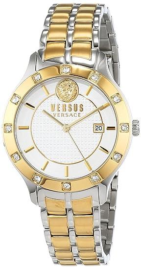 Versus by Versace Reloj Analogico para Mujer de Cuarzo con Correa en Acero Inoxidable VSP460218: Amazon.es: Relojes