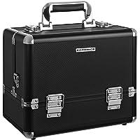 SONGMICS maletin maquillaje profesional Con cerradura negro JBC225B
