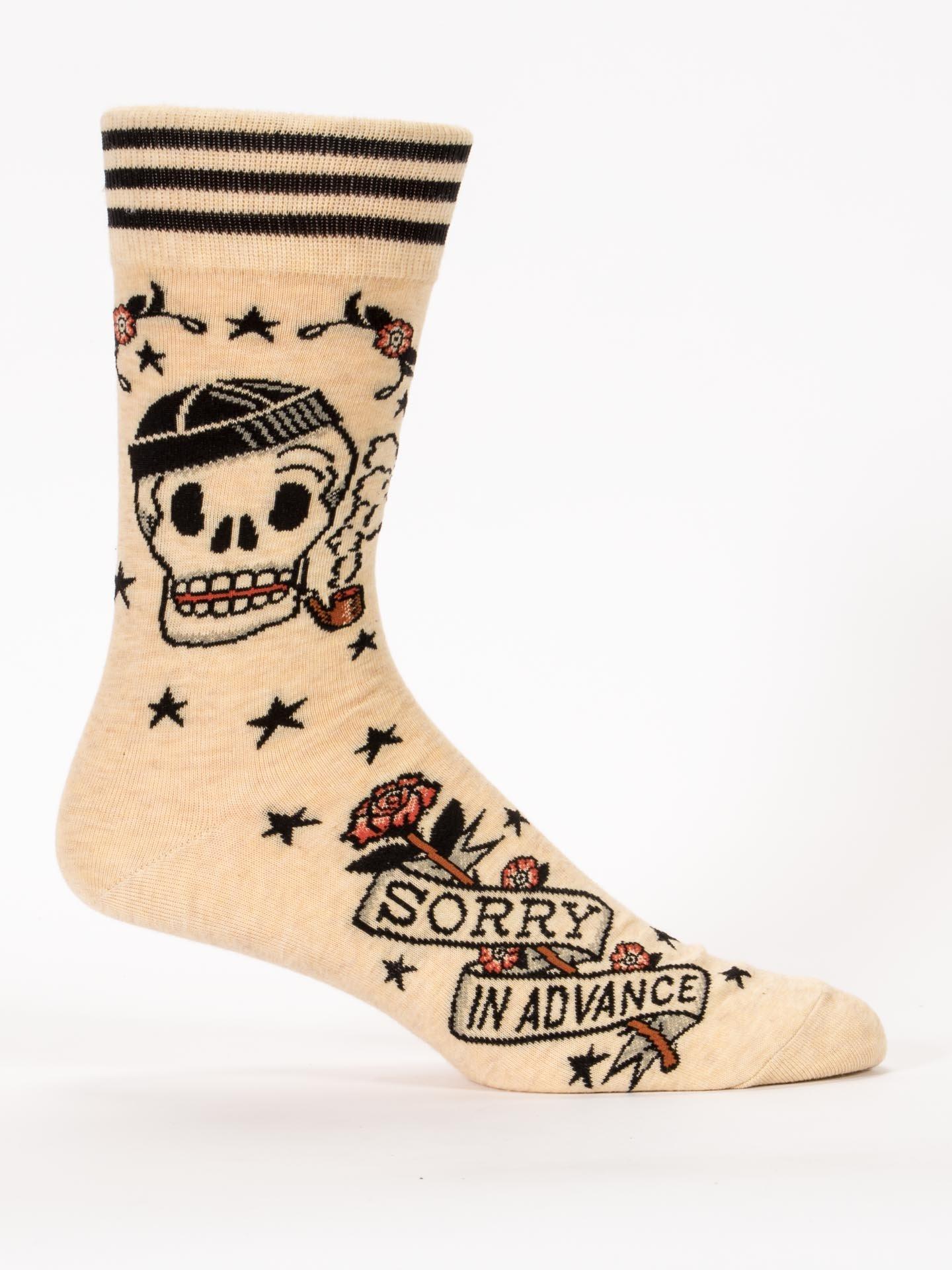 Blue Q Socks, Men's Crew, Sorry in Advance